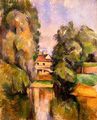 Jerusalem Painting - Country House By A River by Paul Cezanne
