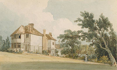 Manor Wall Art - Photograph - Country House, C.1797 Wc With Pen & Ink Over Graphite On Paper by Thomas Girtin