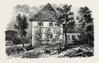 Czech Republic Drawing - Country House In Lechwitz by Litz Collection
