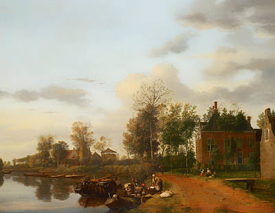 Netherlands Painting - Country House On The Vliet Near Delft by Mountain Dreams