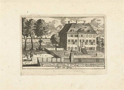 Country House With Falconer, Cornelis Elandts Art Print