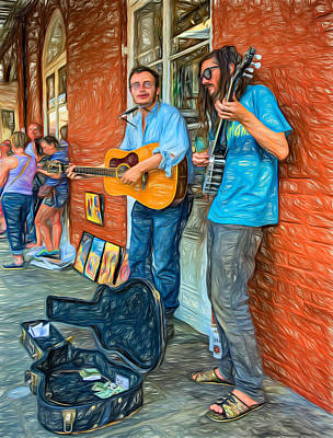 Street Musicians Digital Art - Country In The French Quarter - Paint by Steve Harrington