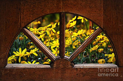 Photograph - Country Kitchen Window by Kaye Menner