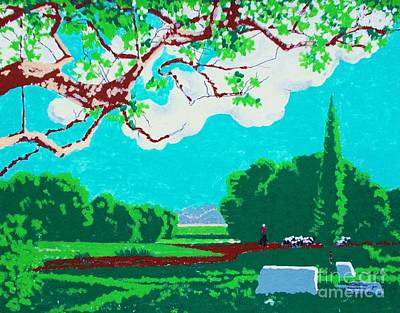 Painting - Country Landscape by Roberto Prusso