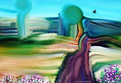 Contemplation Mixed Media - Country Lane by Lenore Senior