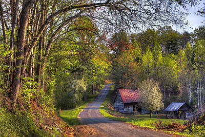Tn Barn Photograph - Country Lanes by Debra and Dave Vanderlaan