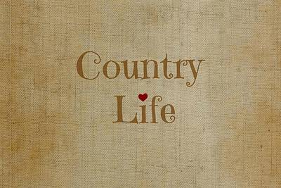 Digital Art - Country Life by Chastity Hoff