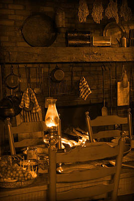 Photograph - Country Living - Hearthside Dining by John Stephens