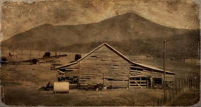 Sepia Vintage Farmhouse Photograph - Country Living In Shenandoah Valley by Dan Sproul