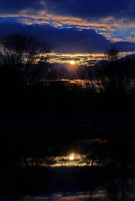 David Jones Photograph - Country Moonrise  by David  Jones