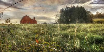 Barn Digital Art - Country Morning by Lori Deiter