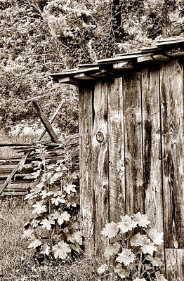 Split Rail Fence Photograph - Country Outhouse by Paul W Faust -  Impressions of Light