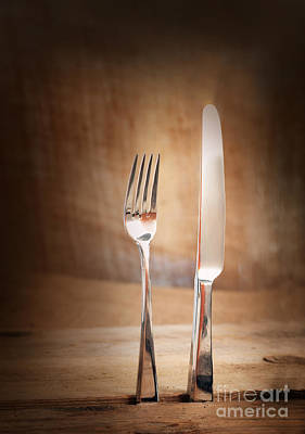 Mythja Photograph - Country Place Setting. by Mythja  Photography