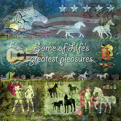 Pleasure Horse Digital Art - Country Pleasures by Evie Cook