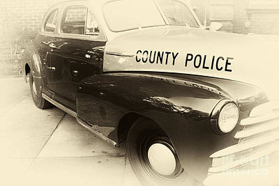 Police Art Photograph - Country Police Antique Toned by John Rizzuto