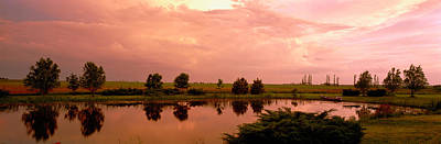 Rural Landscapes Photograph - Country Pond Il Usa by Panoramic Images