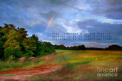 Country Rainbow Art Print by Darren Fisher
