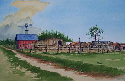 Painting - Country Ranch by Norman Freyer