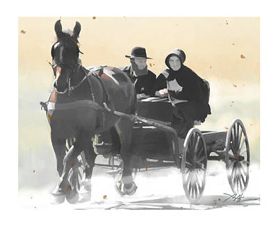Portraits Digital Art - Country Ride by Bob Salo