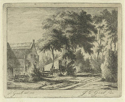 Country Road At A Farm, Jacobus Cornelis Gaal Art Print by Jacobus Cornelis Gaal