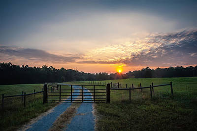 Photograph - Country Road At Sunrise by Alex Grichenko