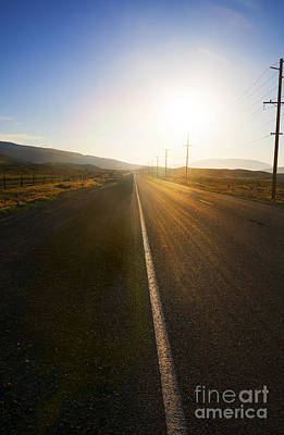 Sinrise Photograph - Country Road At Sunset by Stella Levi