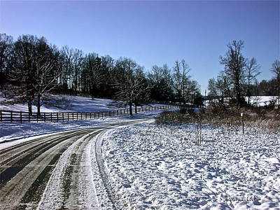 Photograph - Country Road by Bellesouth Studio