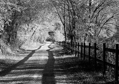 Photograph - Country Road Black And White by Anne Barkley