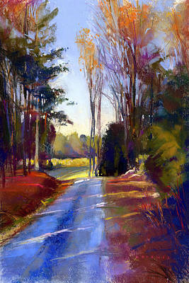 Pastel - Country Road by Greg Barnes