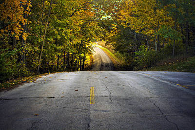 Photograph - Country Road In Fall by Roger Passman