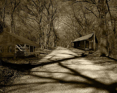 Photograph - Country Road In Sepia by Cecil Fuselier