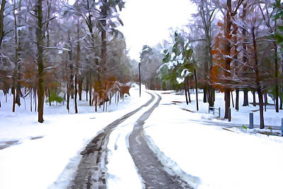 Photograph - Country Road In Winter by Charlie and Norma Brock