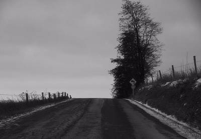 Path In Life Photograph - Country Road In Winter by Dan Sproul
