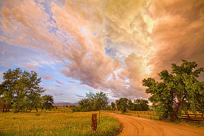 Corporate Art Photograph - Country Road Into The Storm Front by James BO  Insogna