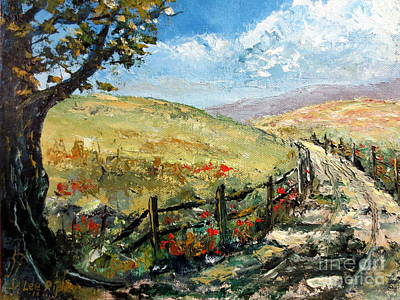 Painting - Country Road by Lee Piper