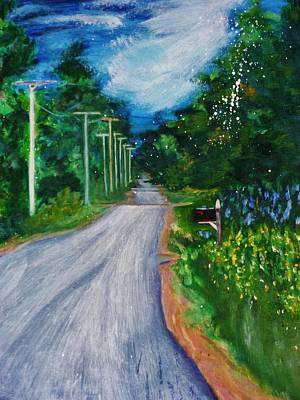 Maine Roads Painting - Country Road by Nancy Milano