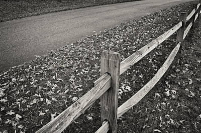Split Rail Fence Photograph - Country Road by Patrick M Lynch