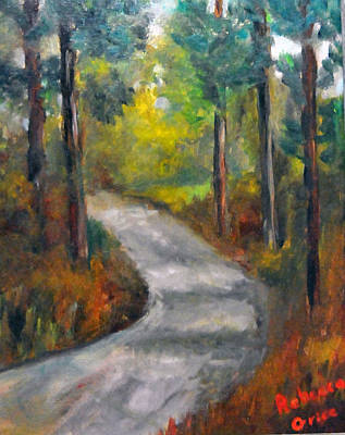 Country Road Print by Rebecca Grice