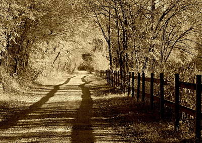 Photograph - Country Road Sepia Tone by Anne Barkley