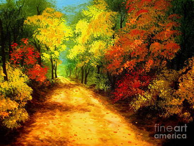 Painting - Country  Road  by Shasta Eone