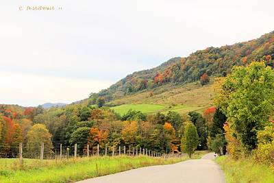 Photograph - Country Road Take Me Home by Carolyn Postelwait