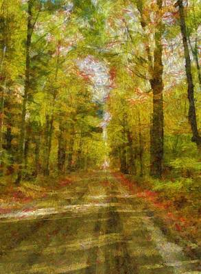 Country Road Digital Art - Country Road Take Me Home by Dan Sproul