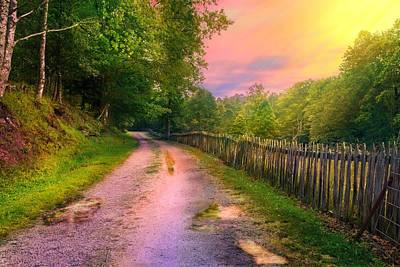 Digital Art - Country Road Take Me Home by Mary Almond