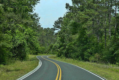 Art Print featuring the photograph Country Road by Victor Montgomery