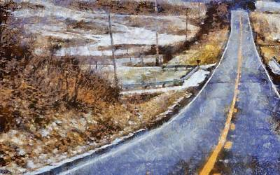Berlin Mixed Media - Country Roads In Ohio by Dan Sproul