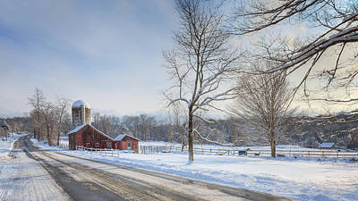 Country Roads Winter Art Print