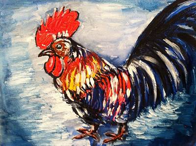 Country Rooster Art Print
