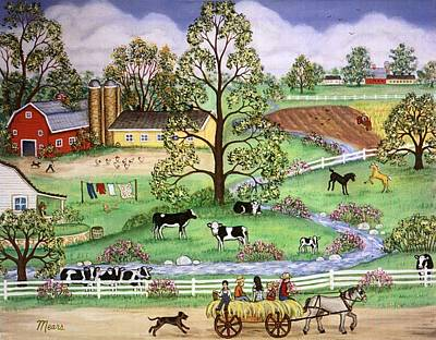 Family Painting - Country Scene by Linda Mears