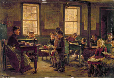 1890 Houses Painting - Country School, 1890 by Granger