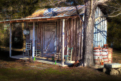 Country Shed Art Print by Michael Eingle
